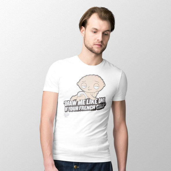 Family Guy - T-shirt Stewie French Girls