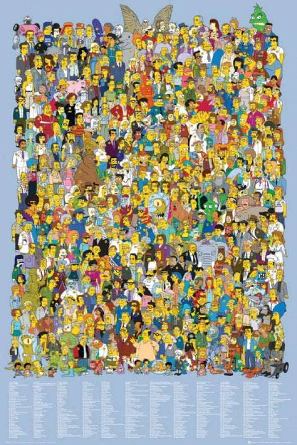 The Simpsons - Poster Cast 2012 Popstore
