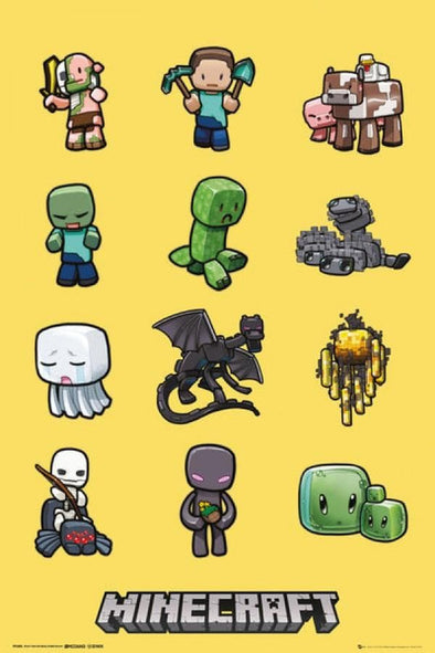 Minecraft - Poster Personagens Popstore