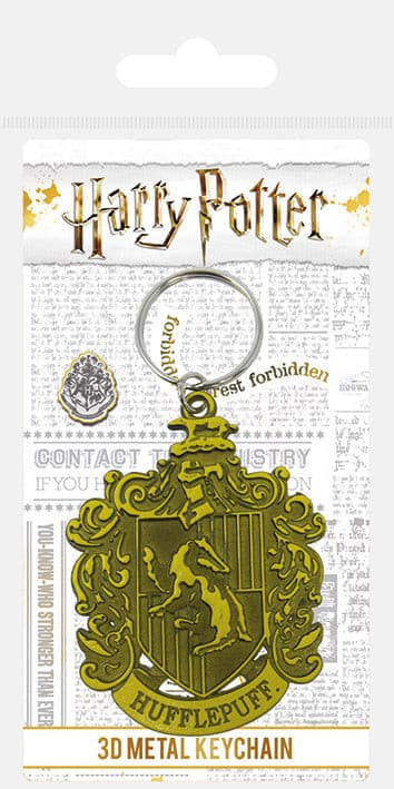 Harry Potter - Porta-Chaves de Metal (Hufflepuff Crest)