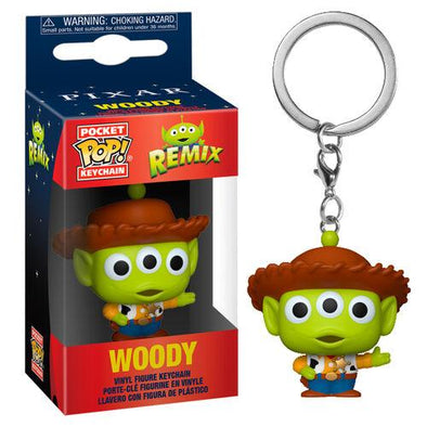 Toy Story - Porta-Chaves POP! Alien Remix Woody FUNKO