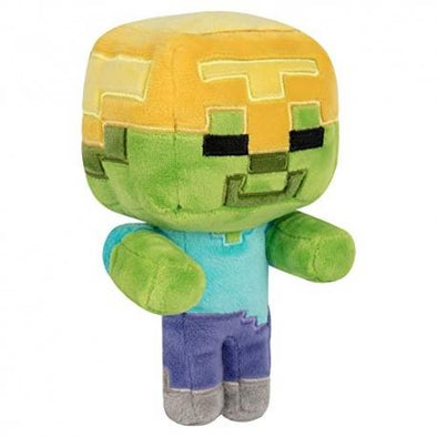 Minecraft - Peluche Happy Explorer Gold Helmet Zombie