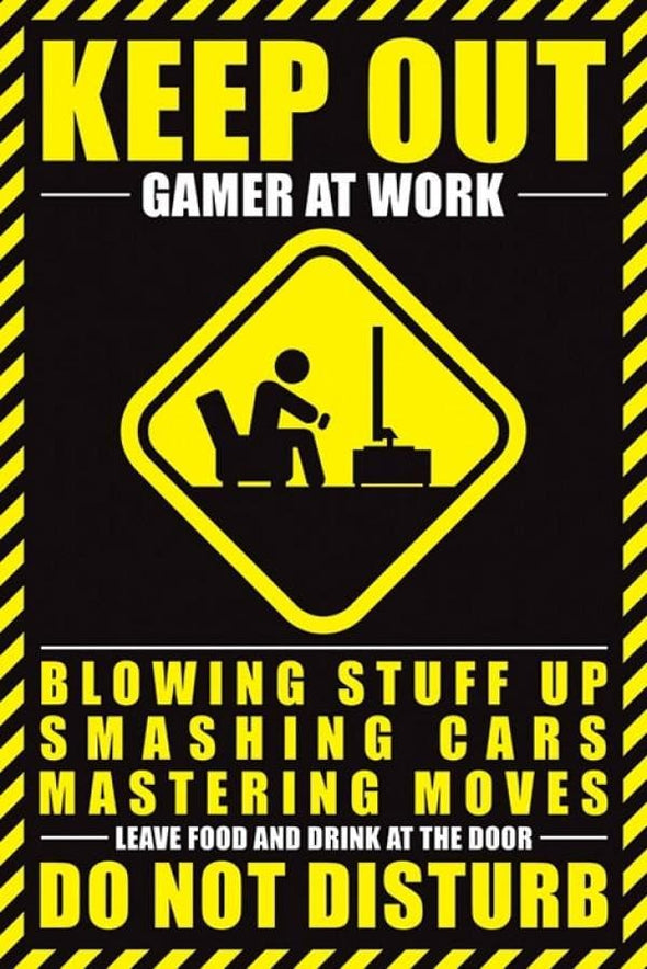 Gamer at Work - Poster Do Not Disturb PYRAMID