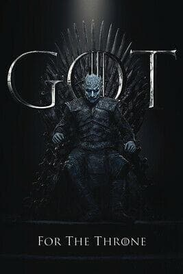 Game of Thrones - Poster The Night King For The Throne Popstore