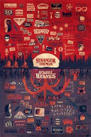 Stranger Things - Poster The Upside Down