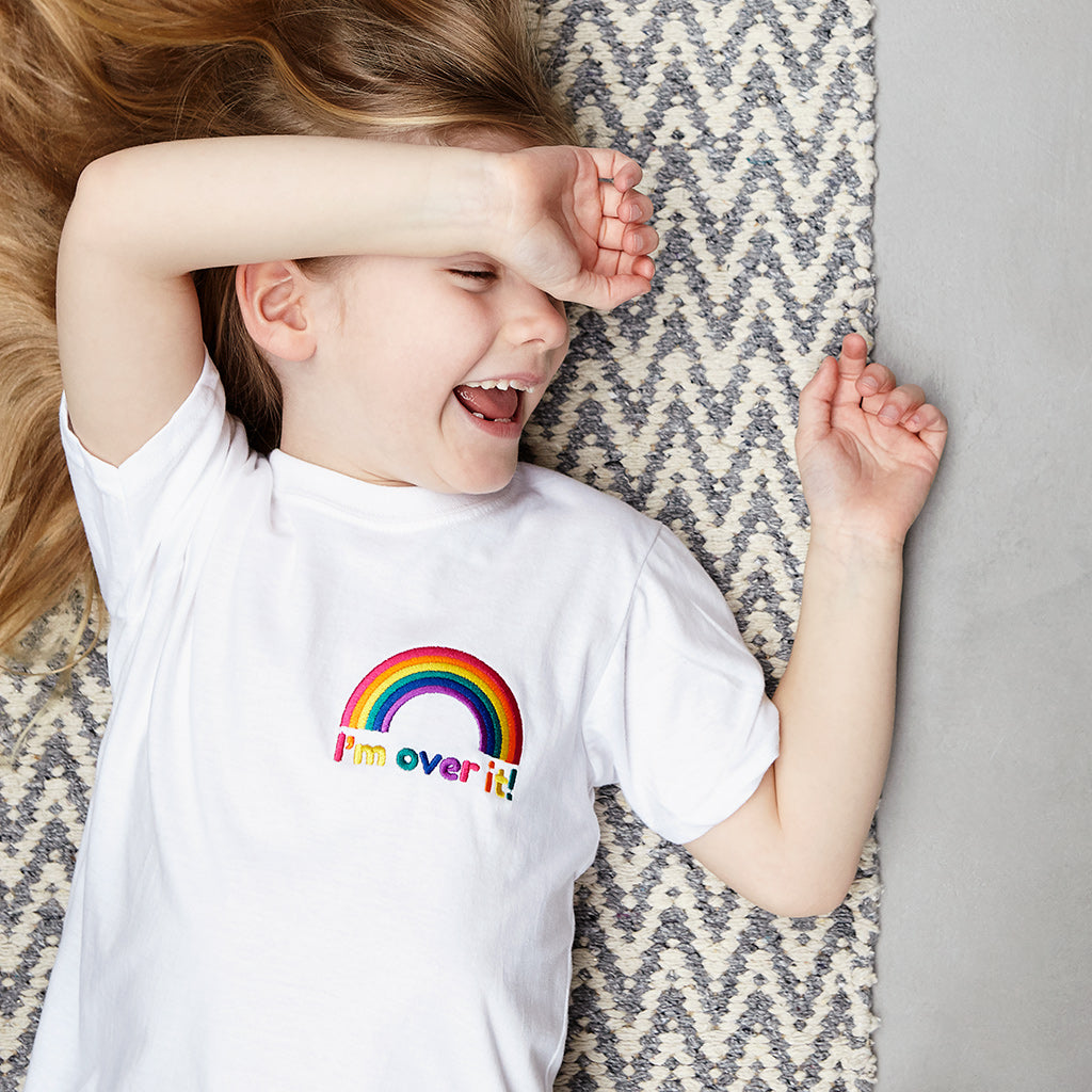 I'm Over It Embroidered Children's T Shirt