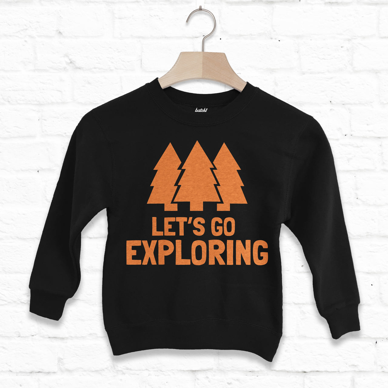 Let's Go Exploring Children's Slogan Sweatshirt