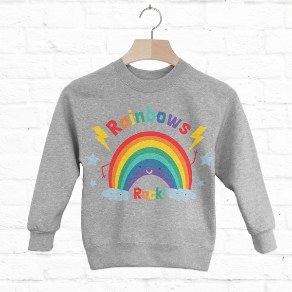 Rainbows Rock! Children's Slogan Sweatshirt