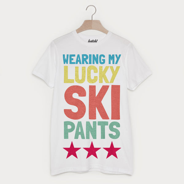 Lucky Ski Pants Men's Retro Après Ski T Shirt
