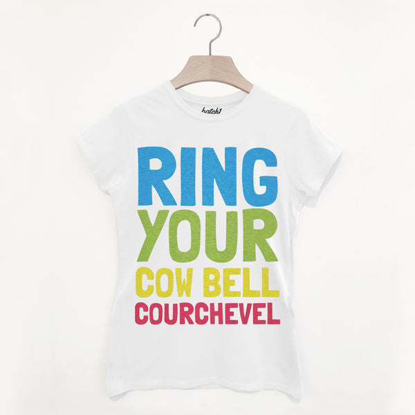 Courchevel Retro Women's Apres Ski Slogan T Shirt