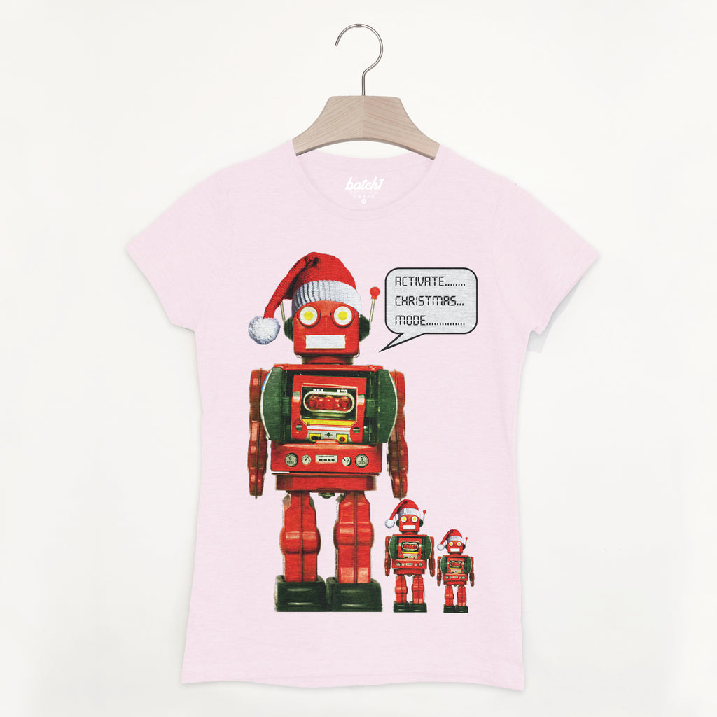 Activate Christmas Mode Robot Women's T Shirt