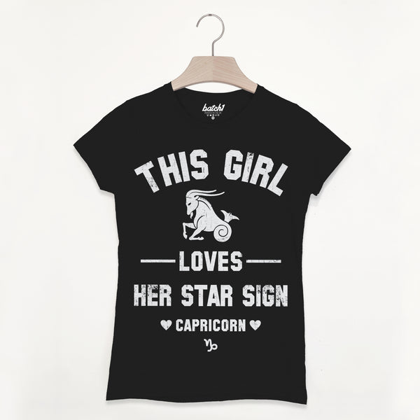Capricorn Women's Zodiac Star Sign T Shirt