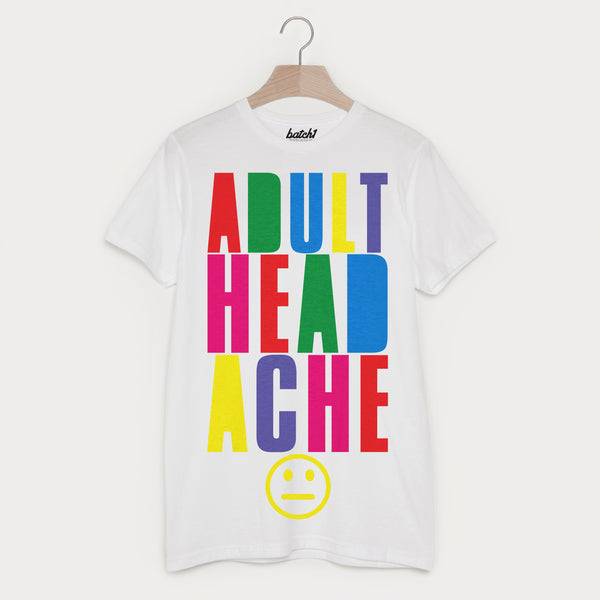 Adult Headache Men's Block Colour Hangover T Shirt