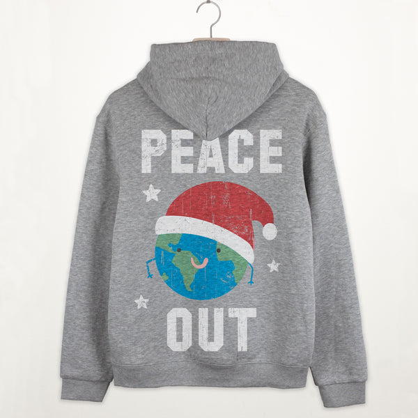 Peace Out Premium Christmas Slogan Hoodie