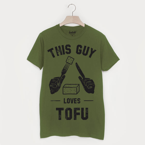 This Guy Loves Tofu Men's Vegan Slogan T Shirt