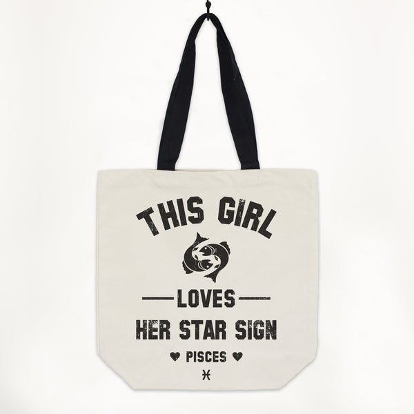 Pisces Women's Zodiac Star Sign Tote Bag