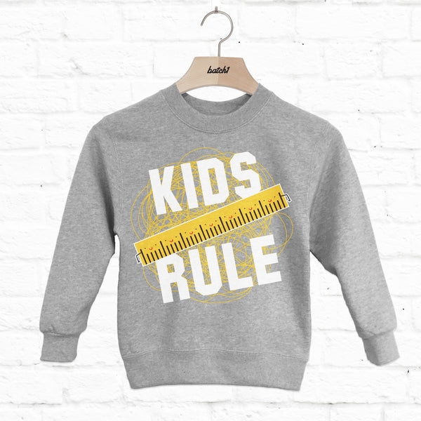 Kids Rule Children's Slogan Sweatshirt