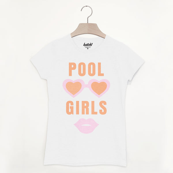 Pool Girls Women's Summer Beach Slogan T Shirt