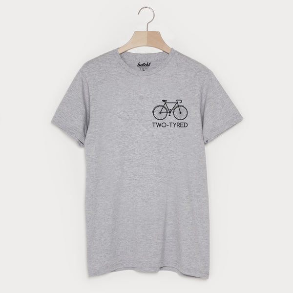 Two Tyred Men's Cycling Slogan T Shirt