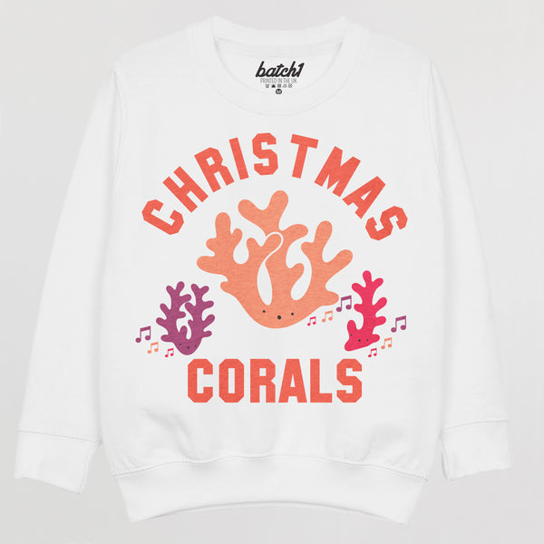Christmas Corals Children's Christmas Jumper