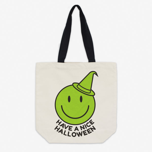 Have A Nice Halloween Witch Canvas Tote Bag
