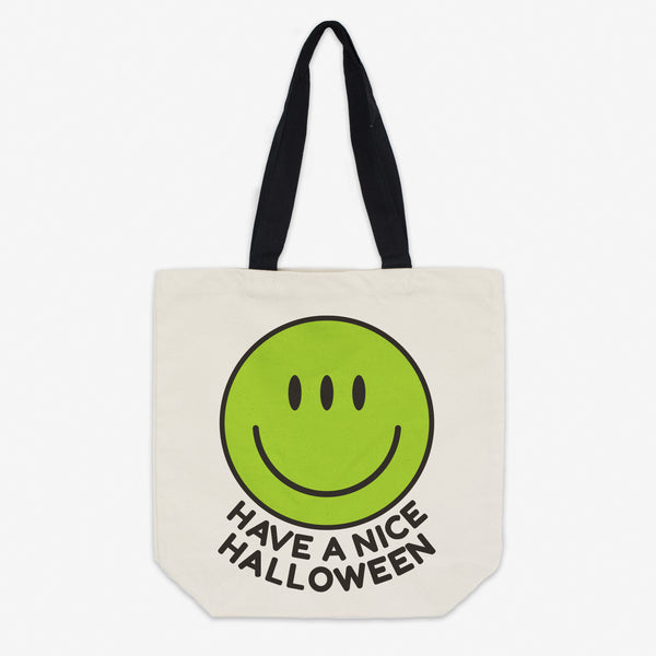 Have A Nice Halloween Alien Canvas Tote Bag