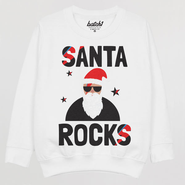Santa Rocks Children's Christmas Jumper