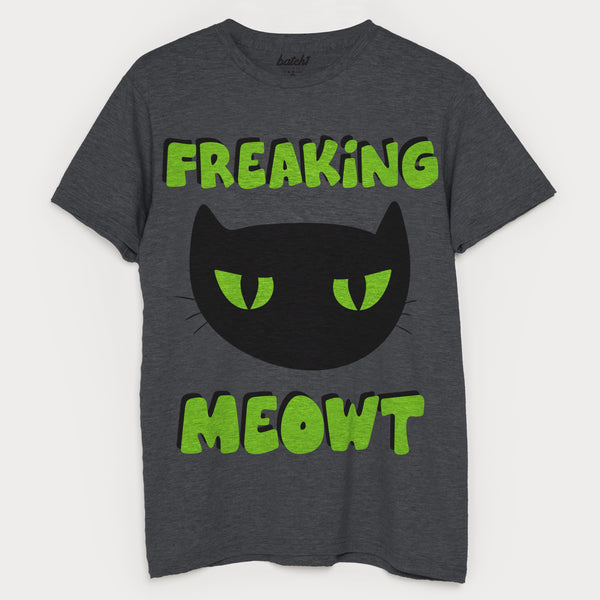Freaking Meowt Men's Halloween Cat T-Shirt