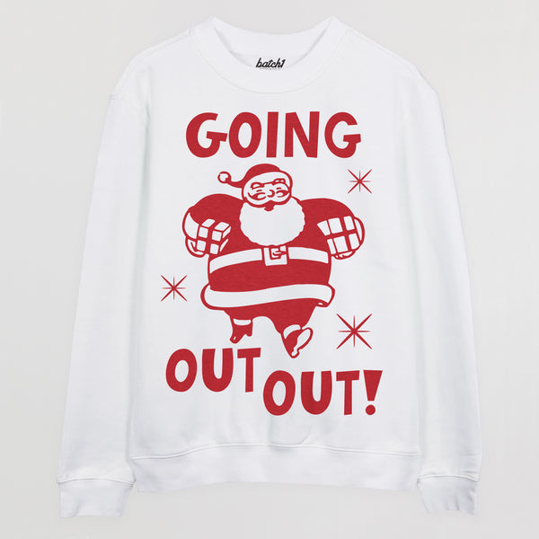 Going Out Out Santa Women's Christmas Jumper