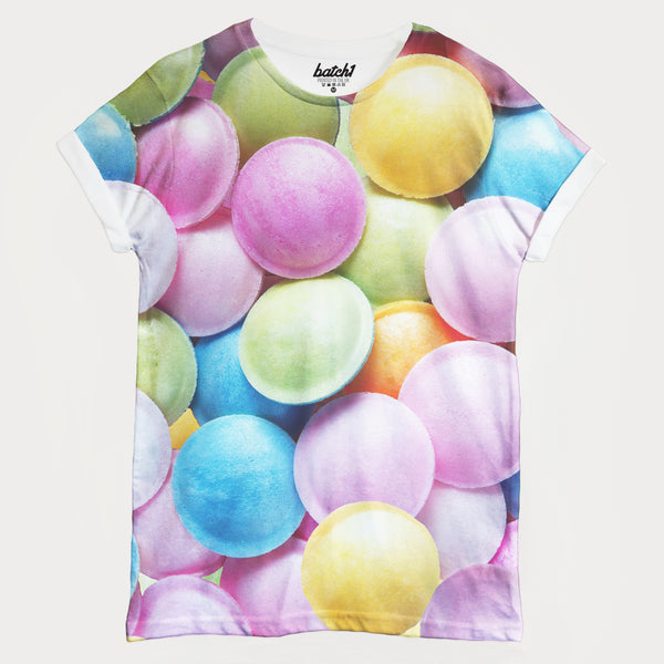 Flying Saucer Sweets All Over Photo Print Unisex Food Fashion T-Shirt