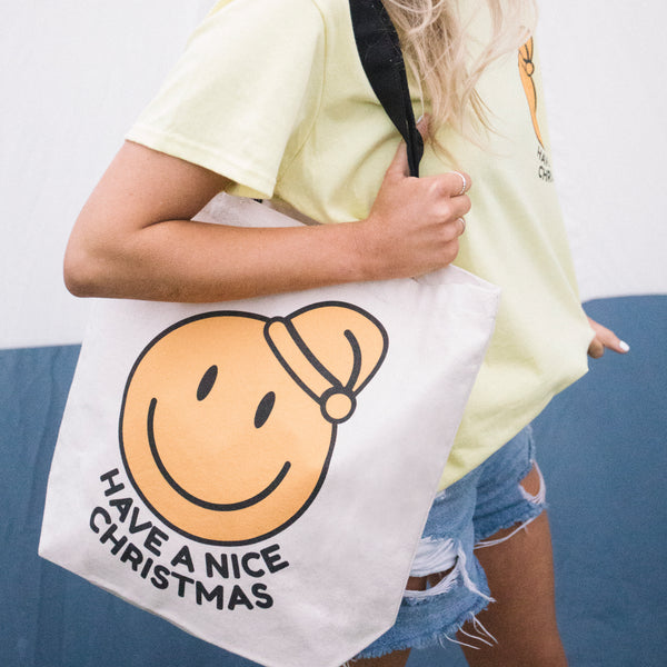 Have A Nice Christmas Canvas Tote Bag