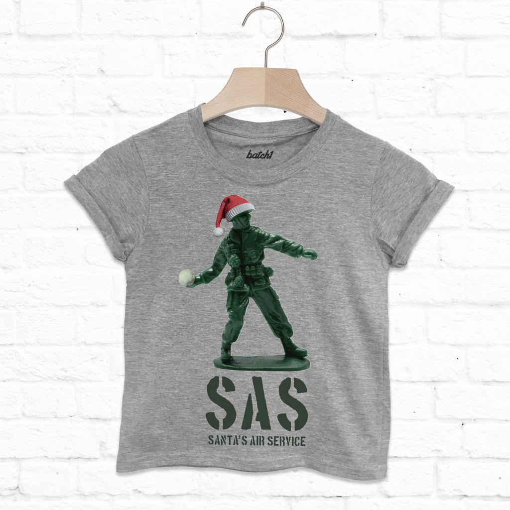 Sas Santa's Air Service Kids Fun Christmas T Shirt