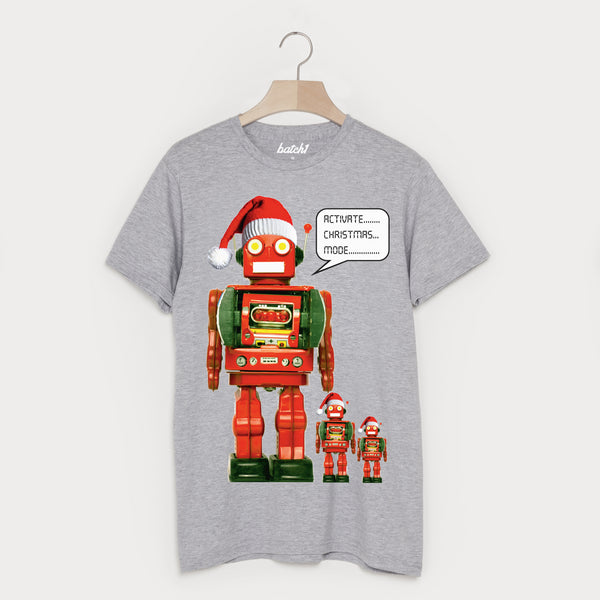 Activate Christmas Mode Men's Christmas Robot T-Shirt