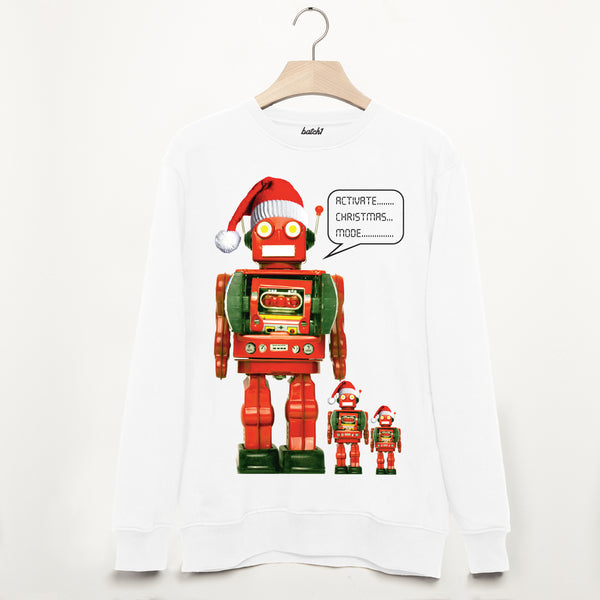 Activate Christmas Mode Robot Men's Sweatshirt