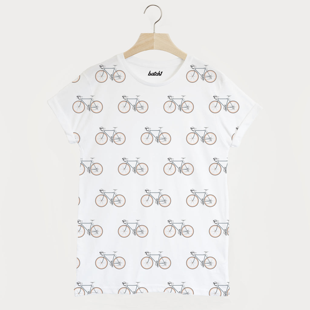 Bike All Over Print Men's Cycling T Shirt