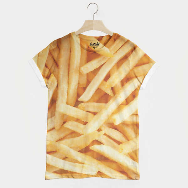 French Fries All Over Photo Print Unisex Junk Food Fashion T-Shirt