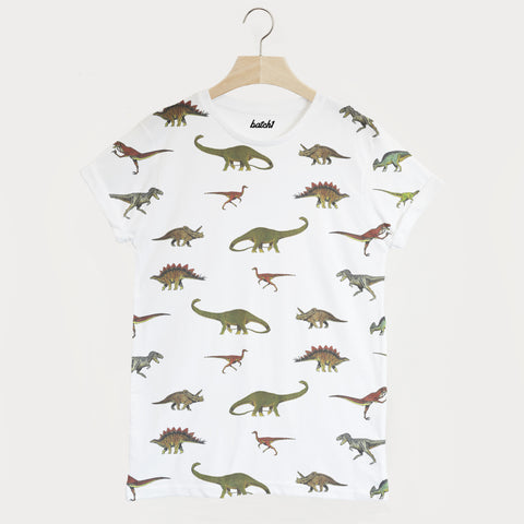 Dinosaur All Over Print Unisex Summer T Shirt