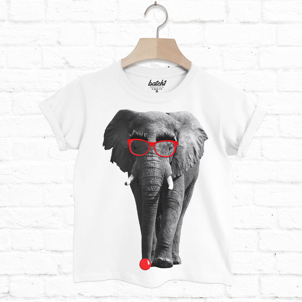 Comic Relief Red Nose Day Funny Elephant Children's Charity T-Shirt
