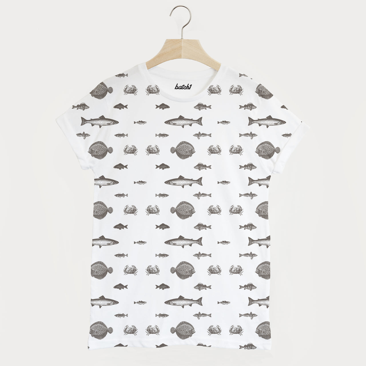 Fish All Over Print Men's Summer Fishing T Shirt