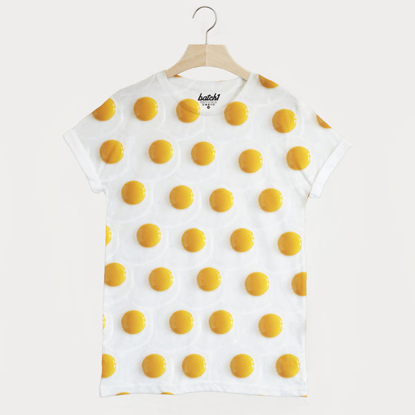 Fried Eggs All Over Photo Print Unisex Food Fashion T-Shirt