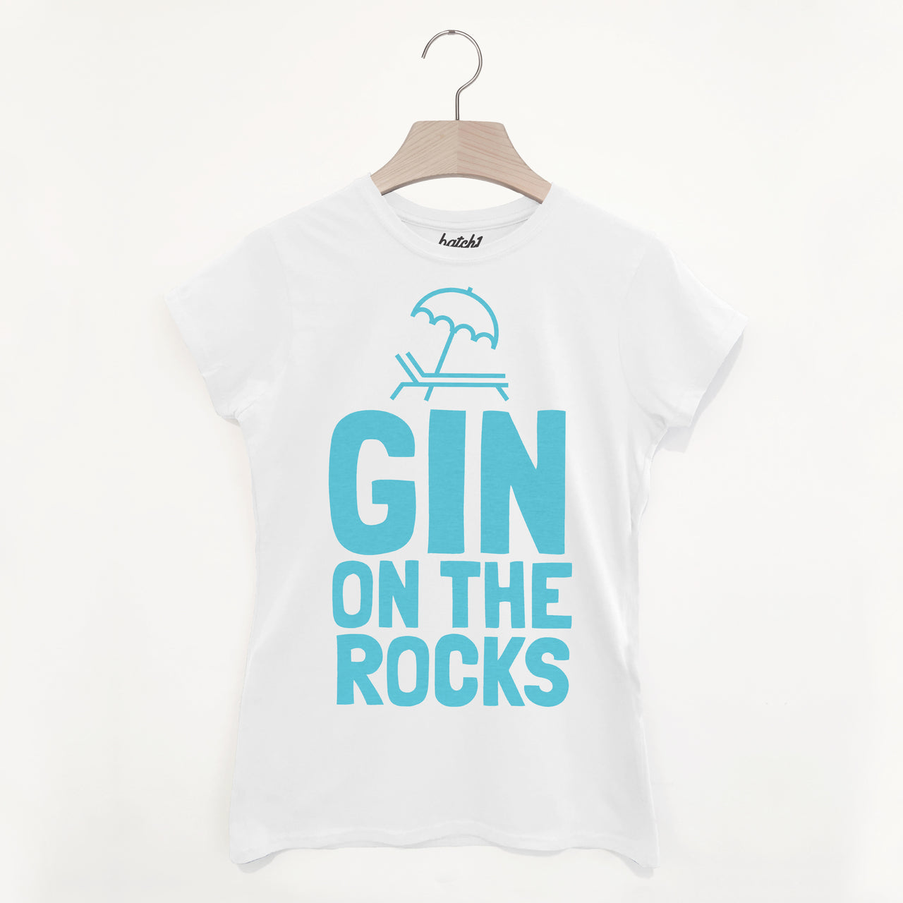 Gin On The Rocks Women's Summer Gin Slogan T Shirt