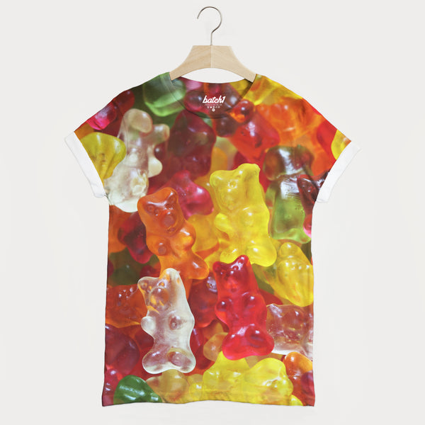 Gummy Bears All Over Photo Print Unisex Candy Sweets Food Fashion T-Shirt