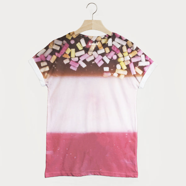 Ice Lolly All Over Photo Print Unisex Summer Food Fashion T-Shirt