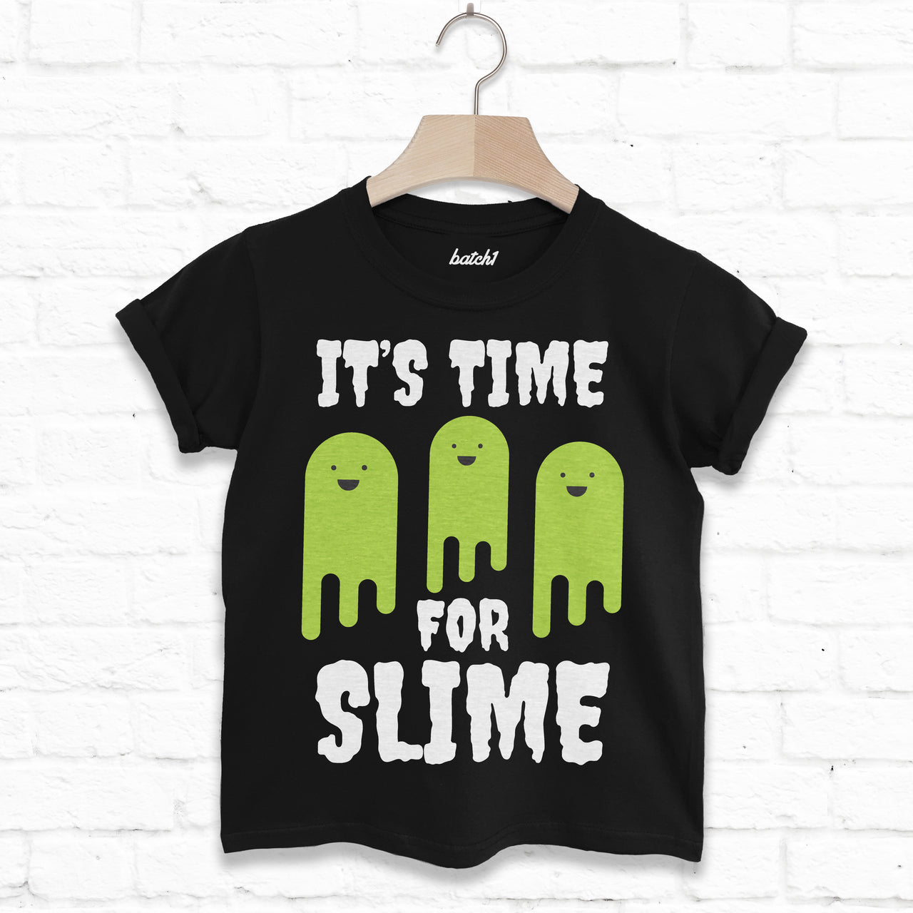 It's Time For Slime Children's Halloween T-Shirt