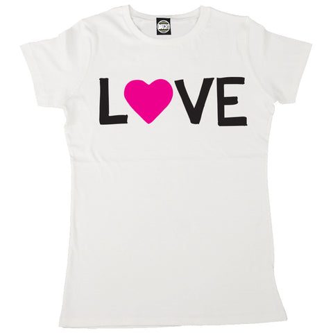 LOVE HEART SLOGAN GIRLFRIEND WIFE WOMENS VALENTINES DAY GIFT T-SHIRT