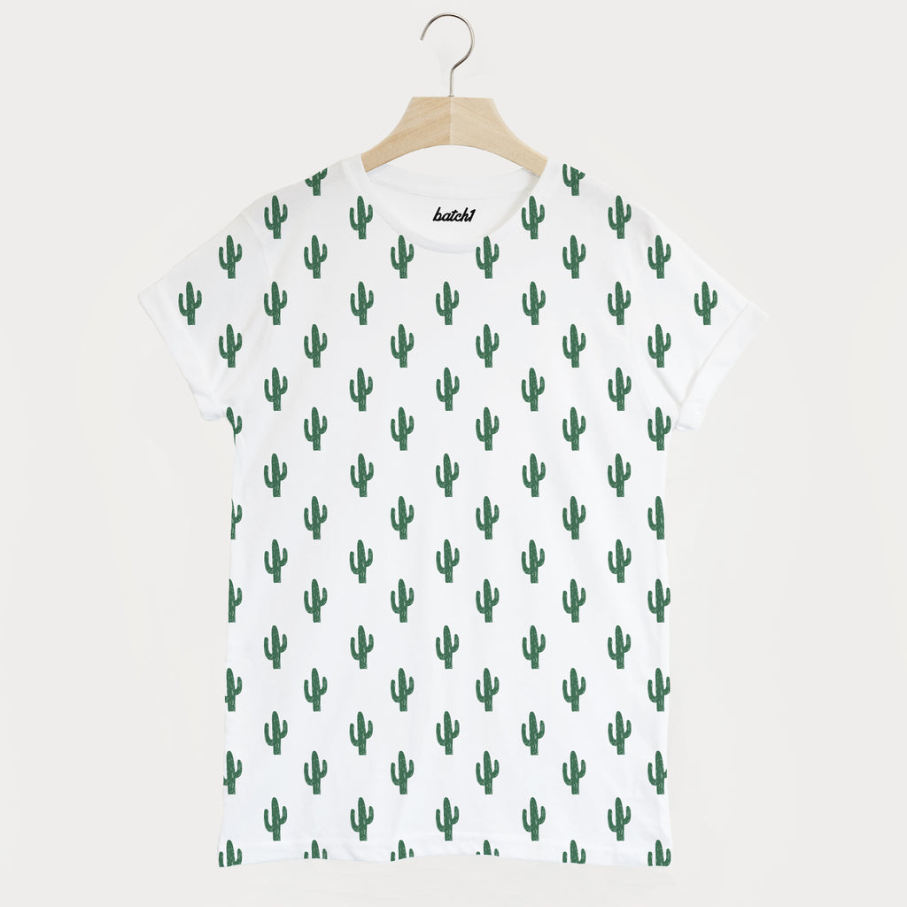 Cactus All Over Print Men's Summer Fashion T Shirt