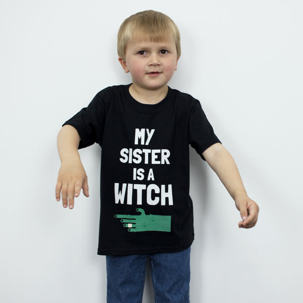 My Sister Is A Witch Children's Halloween T-Shirt