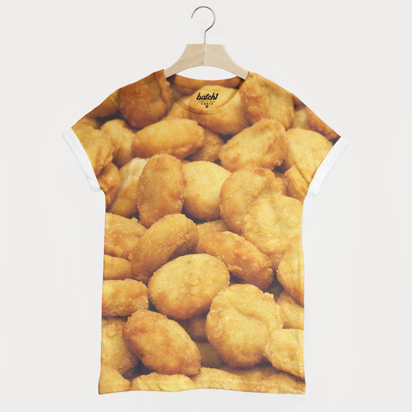 Chicken Nuggets All Over Photo Print Unisex Junk Food Fashion T-Shirt