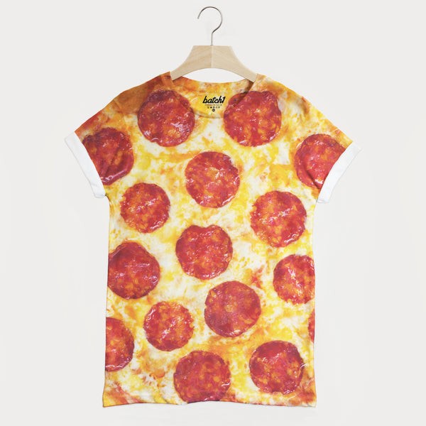 Pizza All Over Photo Print Unisex Junk Food Takeaway Fashion T-Shirt