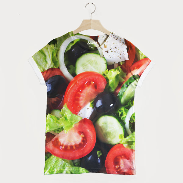 Salad All Over Photo Print Unisex Healthy Food Fashion T-Shirt